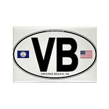 Virginia Beach VB Oval Rectangle Magnet (100 pack)