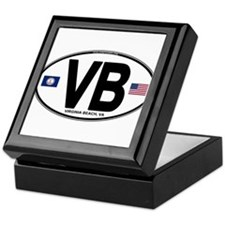 Virginia Beach VB Oval Keepsake Box