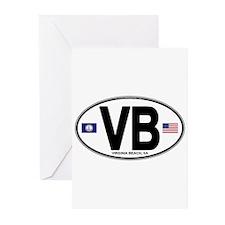 Virginia Beach VB Oval Greeting Cards (Pk of 20)