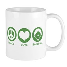 Peace Love Baseball Mug