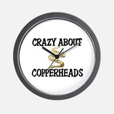 Crazy About Copperheads Wall Clock
