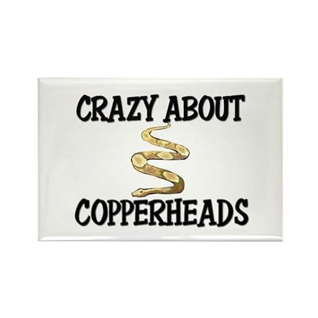 Crazy About Copperheads Rectangle Magnet