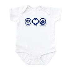 Peace Love Baseball Infant Bodysuit
