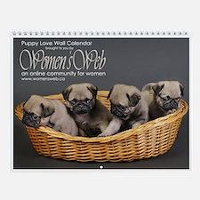 Women's Web Puppy Love Wall Calendar
