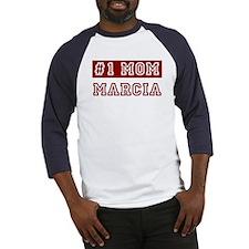 Marcia #1 Mom Baseball Jersey