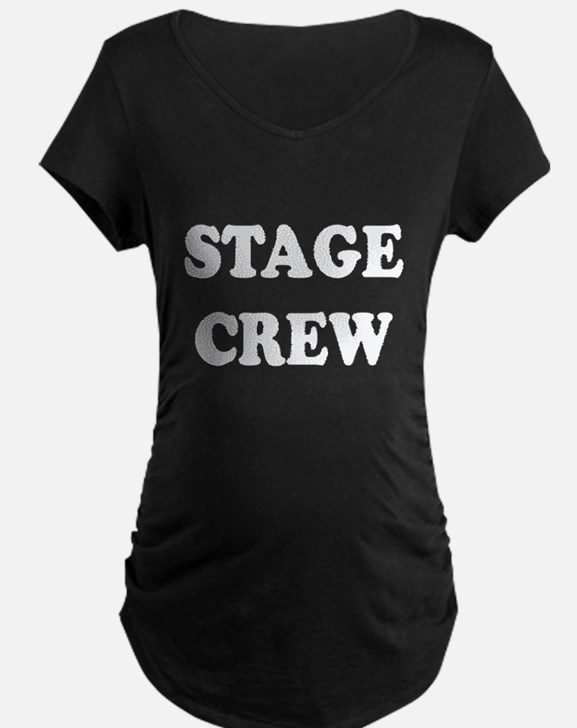 stage crew white Maternity T-Shirt