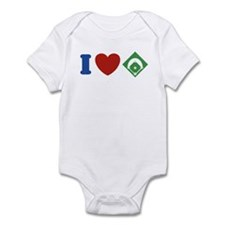 I Love Baseball Infant Bodysuit