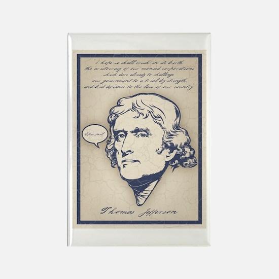 Jefferson-Epic Fail Rectangle Magnet