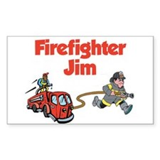 Firefighter Jim Rectangle Decal