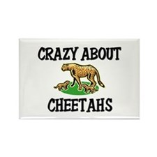 Crazy About Cheetahs Rectangle Magnet