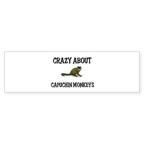 Crazy About Capuchin Monkeys Bumper Sticker