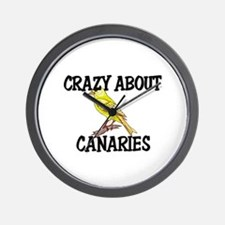 Crazy About Canaries Wall Clock