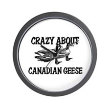 Crazy About Canadian Geese Wall Clock