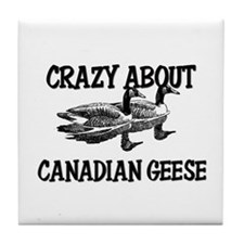 Crazy About Canadian Geese Tile Coaster