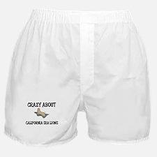 Crazy About California Sea Lions Boxer Shorts