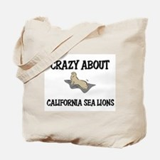 Crazy About California Sea Lions Tote Bag