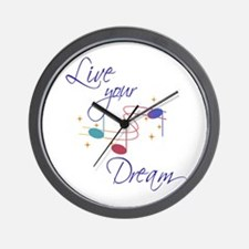 Live Your Dream Wall Clock