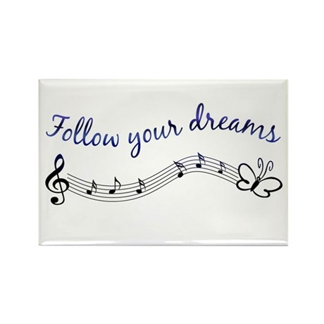 Follow Your Dreams Rectangle Magnet (100 pack)