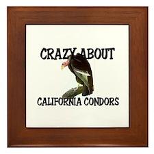Crazy About California Condors Framed Tile