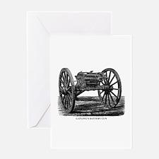 Gatling's Battery Gun Greeting Card