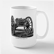 Gatling's Battery Gun Large Mug