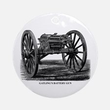 Gatling's Battery Gun Ornament (Round)