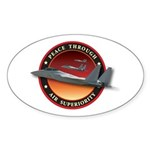 Air Superiority Oval Sticker
