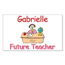 Gabrielle - Future Teacher Rectangle Decal