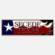 Secede Texas Wavy Flag Black Bumper Bumper Bumper Sticker