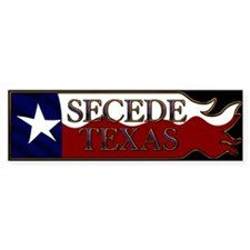 Secede Texas Wavy Flag Black Bumper Bumper Sticker