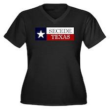 Secede Texas Women's Plus Size V-Neck Dark T-Shirt
