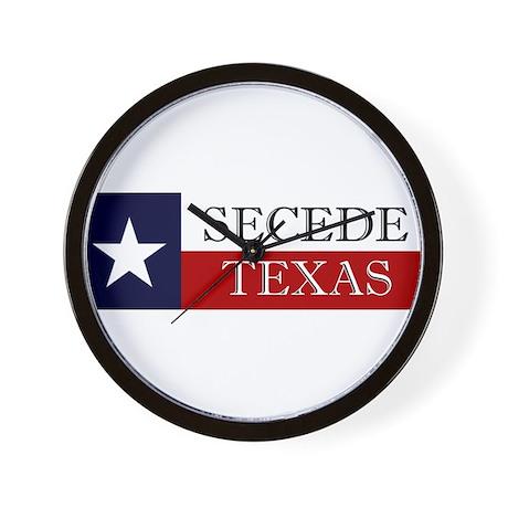 Secede Texas Wall Clock