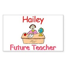 Hailey - Future Teacher Rectangle Decal