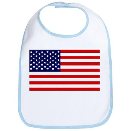 American Flag Baby Bib