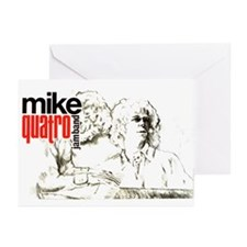 Quatro Ink Study 2 Heads Greeting Cards (Package o