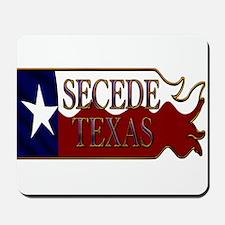 Secede Texas Wavy Flag Mousepad