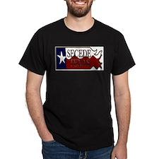 Secede Texas Wavy Flag T-Shirt