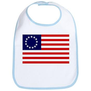 Betsy Ross Flag Bib