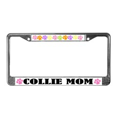 Collie Mom Dog License Plate Frame