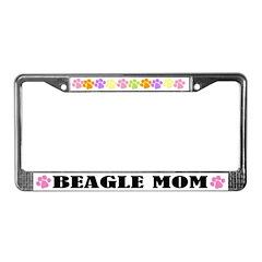Beagle Mom Dog License Plate Frame