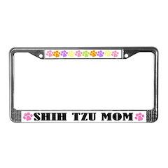 Shih Tzu Mom Pet License Plate Frame
