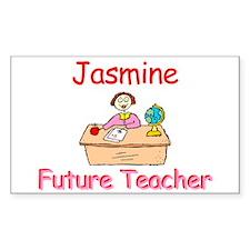 Jasmine - Future Teacher Rectangle Decal