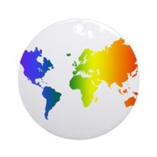 Gay Pride All Over the World Ornament (Round)
