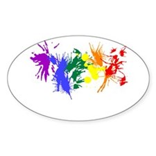 Pride Paint Oval Decal