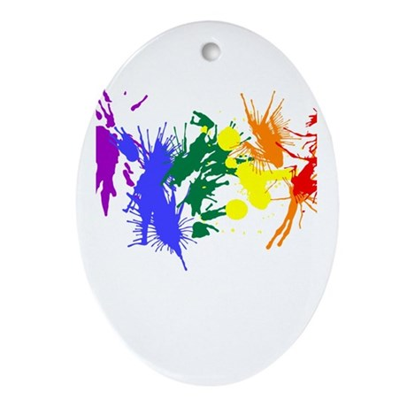 Pride Paint Oval Ornament