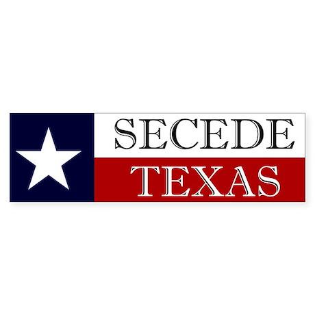 Secede Texas Bumper Sticker