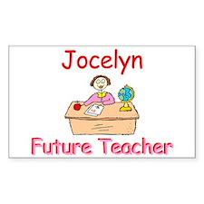 Jocelyn - Future Teacher Rectangle Decal