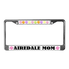 Airedale Mom Dog License Plate Frame