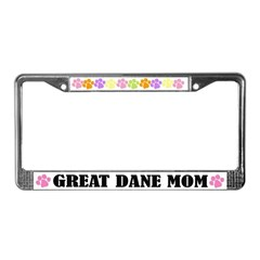 Great Dane Mom License Plate Frame