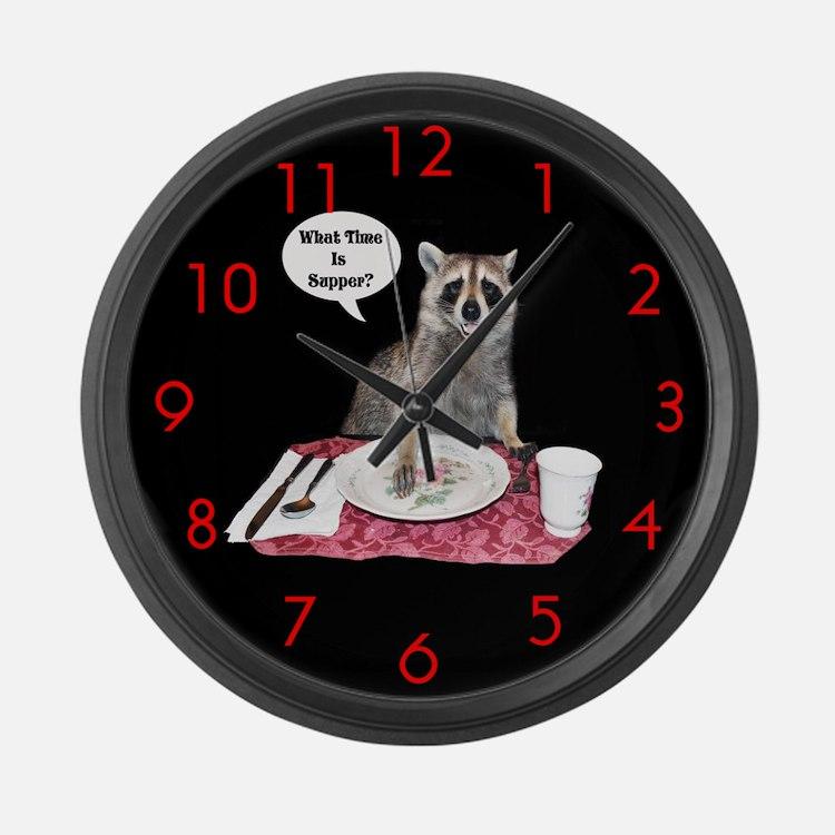Raccoon Large Wall Clock